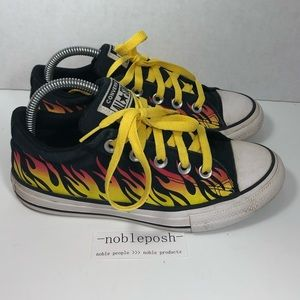 Converse All Star Low Top Kids Flame Sneakers